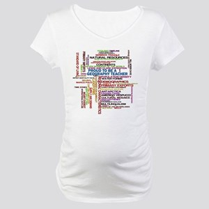 Proud Geography Teacher Maternity T-Shirt