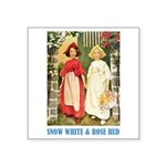 Snow White & Rose Red Square Sticker 3