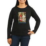 Snow White & Rose Red Women's Long Sleeve Dark T-S