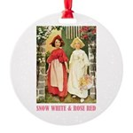 Snow White & Rose Red Round Ornament