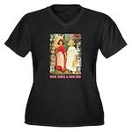 Snow White & Rose Red Women's Plus Size V-Neck Dar