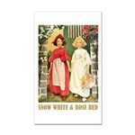 Snow White & Rose Red Rectangle Car Magnet