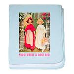 Snow White & Rose Red baby blanket