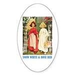 Snow White & Rose Red Sticker (Oval 10 pk)
