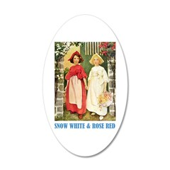 Snow White & Rose Red Wall Decal