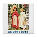 Snow White & Rose Red Tile Coaster