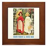 Snow White & Rose Red Framed Tile