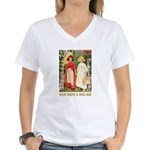 Snow White & Rose Red Women's V-Neck T-Shirt