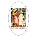 Snow White & Rose Red Sticker (Oval 50 pk)