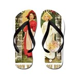 Snow White & Rose Red Flip Flops