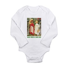 Snow White & Rose Red Long Sleeve Infant Bodysuit