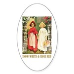 Snow White & Rose Red Sticker (Oval 10 pk)