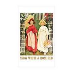 Snow White & Rose Red Sticker (Rectangle 10 pk)