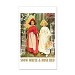Snow White & Rose Red 20x12 Wall Decal