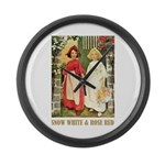 Snow White & Rose Red Large Wall Clock