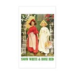 Snow White & Rose Red Sticker (Rectangle)