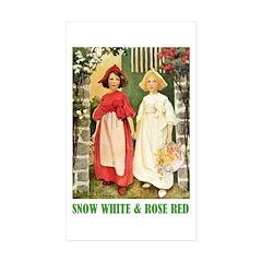 Snow White & Rose Red Sticker (Rectangle 50 pk)