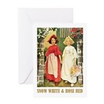 Snow White & Rose Red Greeting Card