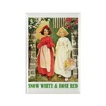 Snow White & Rose Red Rectangle Magnet