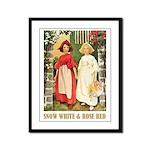 Snow White & Rose Red Framed Panel Print