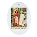 Snow White & Rose Red Ornament (Oval)