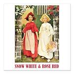 Snow White & Rose Red Square Car Magnet 3