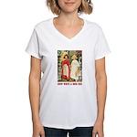 Snow White & Rose Red Women's V-Neck T-Shirt