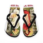 Snow White & Rose Red Flip Flops
