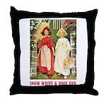 Snow White & Rose Red Throw Pillow