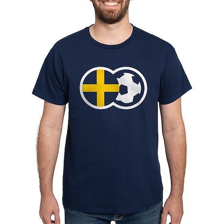 Fotboll Sverige Dark T-Shirt