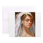 Lady with Veil Notecards (Set of 10)