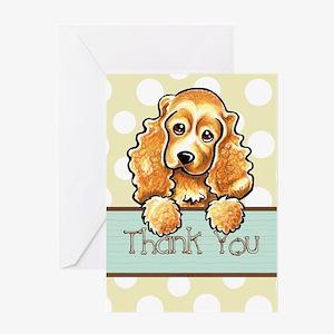 Cocker Spaniel Polka Dot Thank You Greeting Card