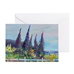 Towers Of Jewels Greeting Cards