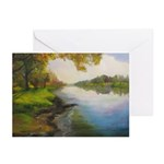 Summer By The River Greeting Cards