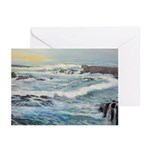 Storm Waves At Glass Beach Greeting Cards