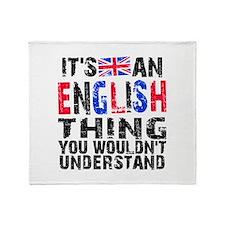 EnglishThing Throw Blanket