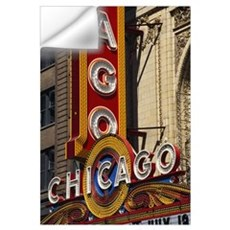 Close-up of a theater sign, Chicago Theater, Chica Wall Decal