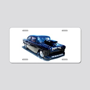 Black POW Classic Car Aluminum License Plate