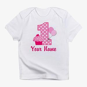 1st Birthday Pink Cupcake Infant T-Shirt