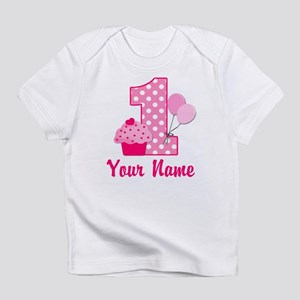 1st Birthday Pink Cupcake Infant T-Shirt
