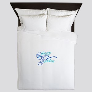 Library Goddess Queen Duvet
