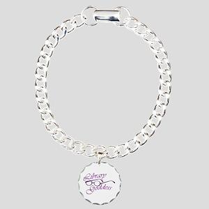 Library Goddess Charm Bracelet, One Charm