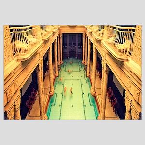 Tourists in a swimming pool, Gellert Baths, Budape