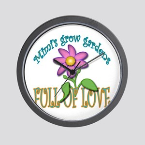 MIMIS GROW GARDENS FULL OF LOVE Wall Clock