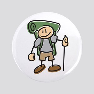 """Happy Hiker Boy 3.5"""" Button"""