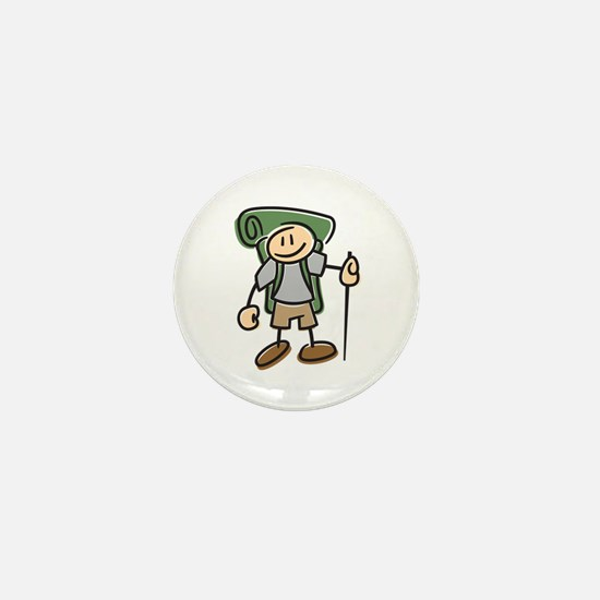 Happy Hiker Boy Mini Button