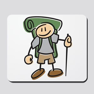 Happy Hiker Boy Mousepad