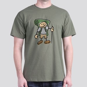 Happy Hiker Boy - Distressed Dark T-Shirt