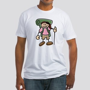 Happy Hiker Girl Fitted T-Shirt