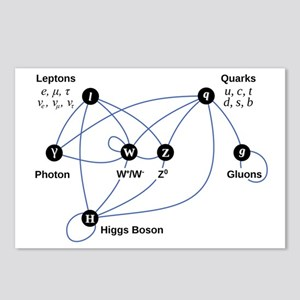 Higgs Boson Diagram Postcards (Package of 8)
